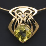 Citrine Diamond Nouveau cr 2497SO