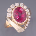 Ring Pink Tourmaline Diamo 1405RS 9x8