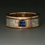 Sapphire Mokume ring 1w 050065