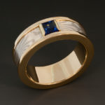 Sapphire Mokume ring 2w 050065