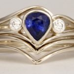 Sapphire Diamond Wedding Set