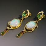 Ethiopian opal Tourmaline 2s 090160