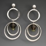 Smokey Quartz Beads Hoops 2832ES